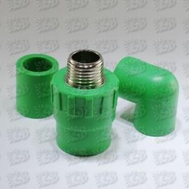 PP-R kausējamā plastmasa - Zaļās PP-R caurules un veidgabali