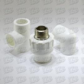 PP-R kausējamā plastmasa - Baltās PP-R caurules un veidgabali