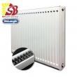 DeLonghi tērauda radiatori ar sāna pieslēgumu 22-400*1100