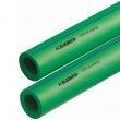 Zaļās plastmasas caurules bez šķiedras
