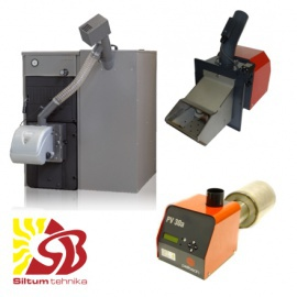 Pellet heating boilers - Pellet burners, pellet feeds, pellet tanks