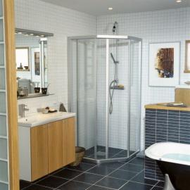 Dušas stūri - Piecstūra dušas stūri