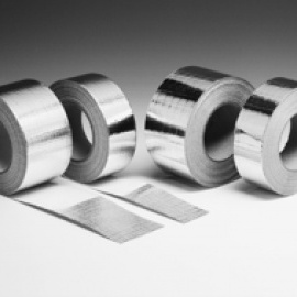 Alumīnija lente 75mm*40m ar foliju armētā