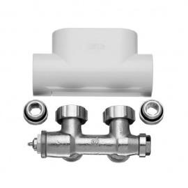 KERMI Dvieļu žāvētāja ventilis balts, ZV00400002