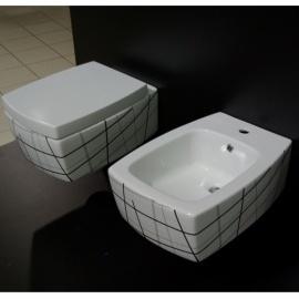 WC bidē OVAL piek. balts/melns 415