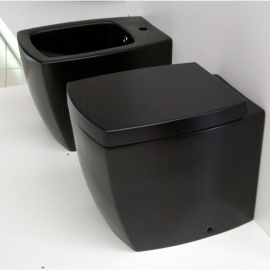 WC Bidē SQUARE melns matēts 105